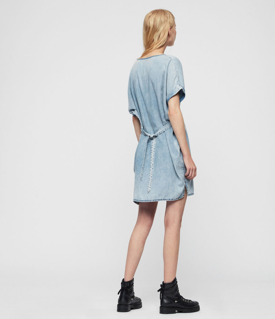 Women's Sonny Tencel Dress (mid_idg_snow_wash) - Image 4