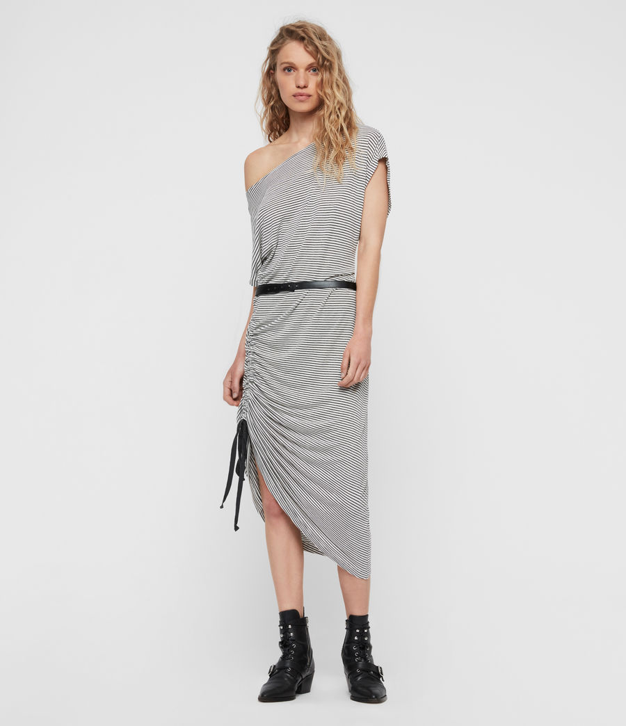 Womens Brea Stripe Dress (chalk_ink_blue) - Image 1