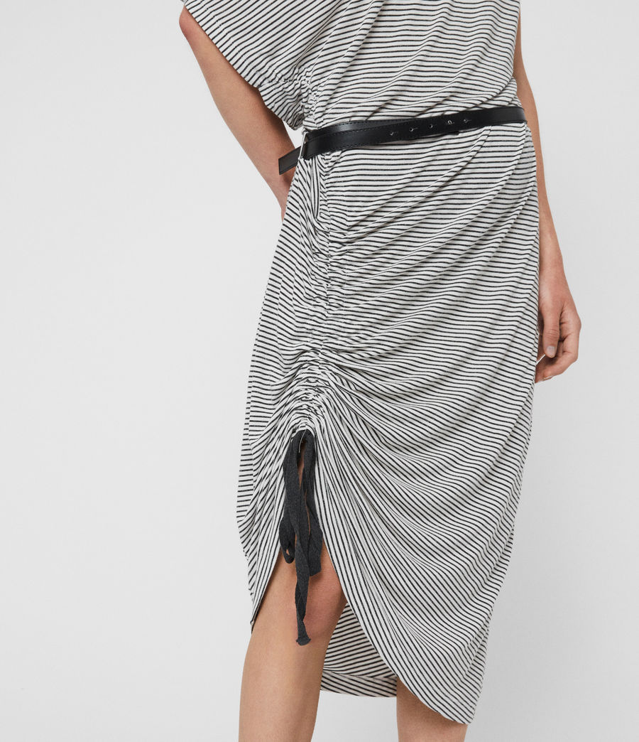 Womens Brea Stripe Dress (chalk_ink_blue) - Image 4
