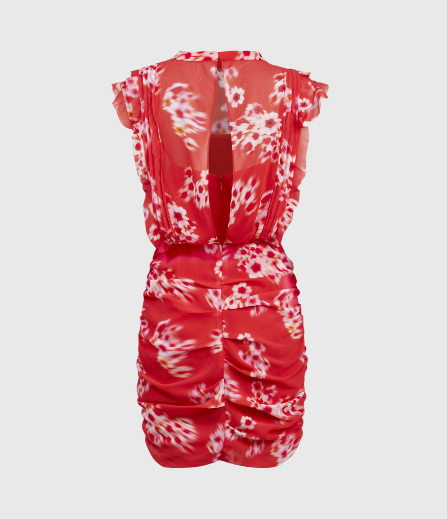 Womens Hali Jasmine Dress (red) - Image 3