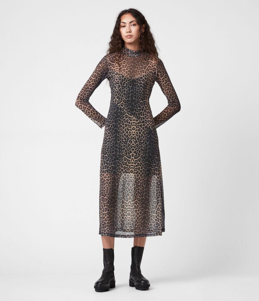 Women's Hanna Linleo Dress (taupe_brown) - Image 1