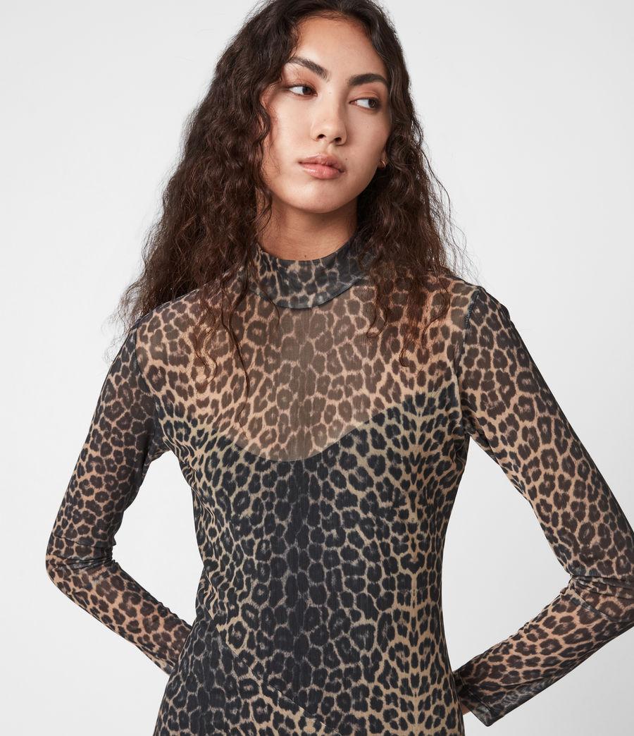 Women's Hanna Linleo Dress (taupe_brown) - Image 4