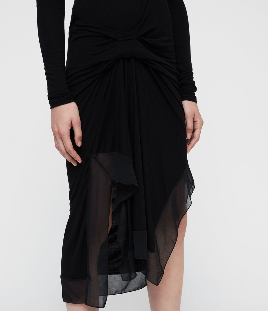 Mujer Vestido de manga larga Riviera Miro (black) - Image 2
