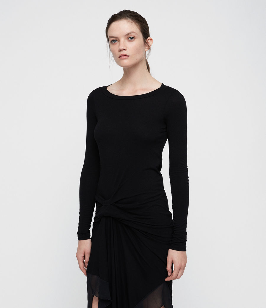 Femmes Robe Manches Longues Riviera Miro (black) - Image 3