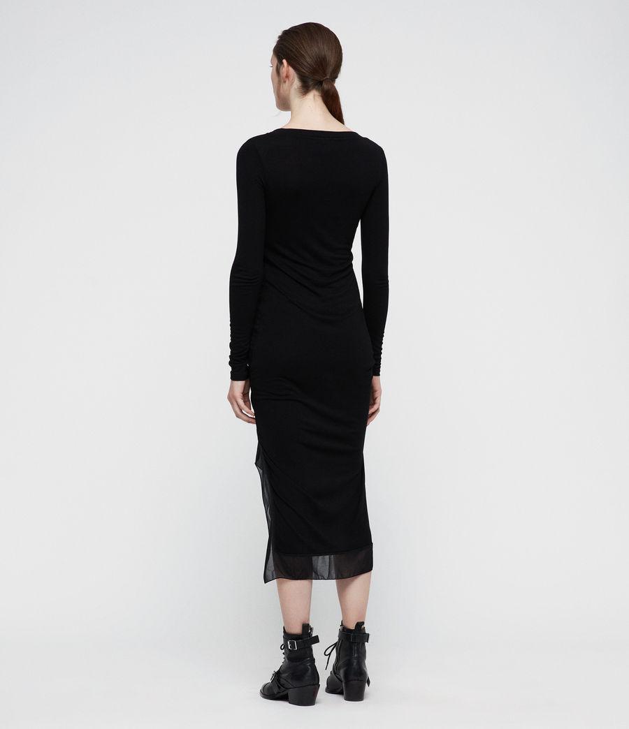 Mujer Vestido de manga larga Riviera Miro (black) - Image 4