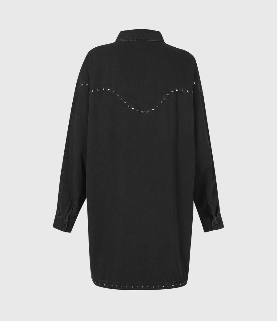 Women's Izzy Studded Denim Dress (black) - Image 3