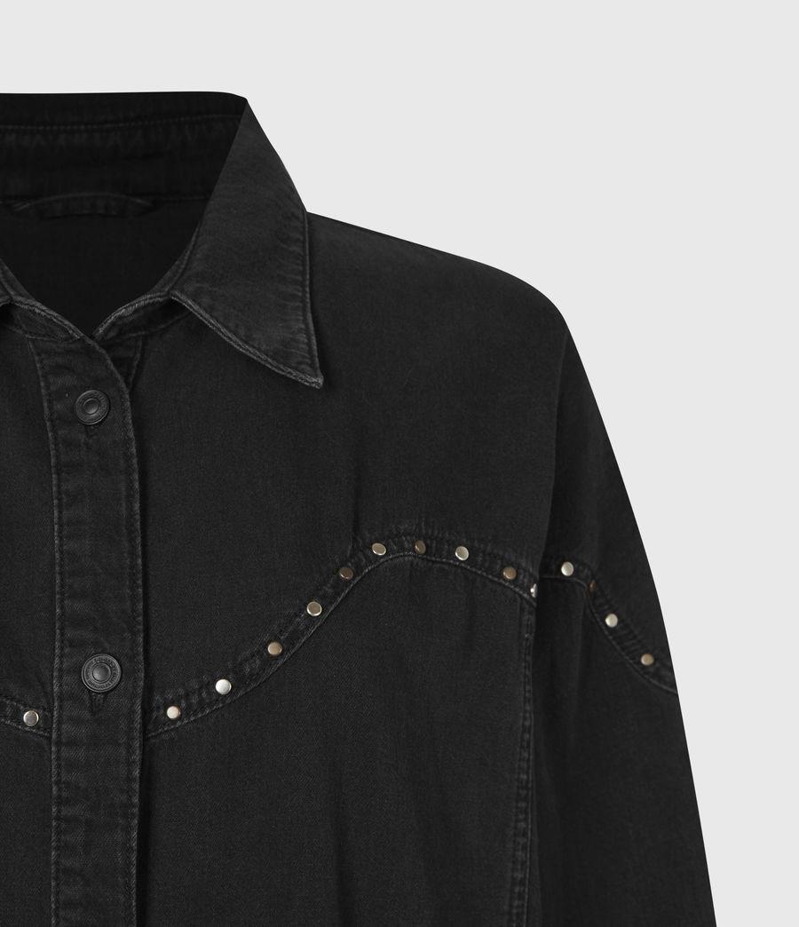 Women's Izzy Studded Denim Dress (black) - Image 5