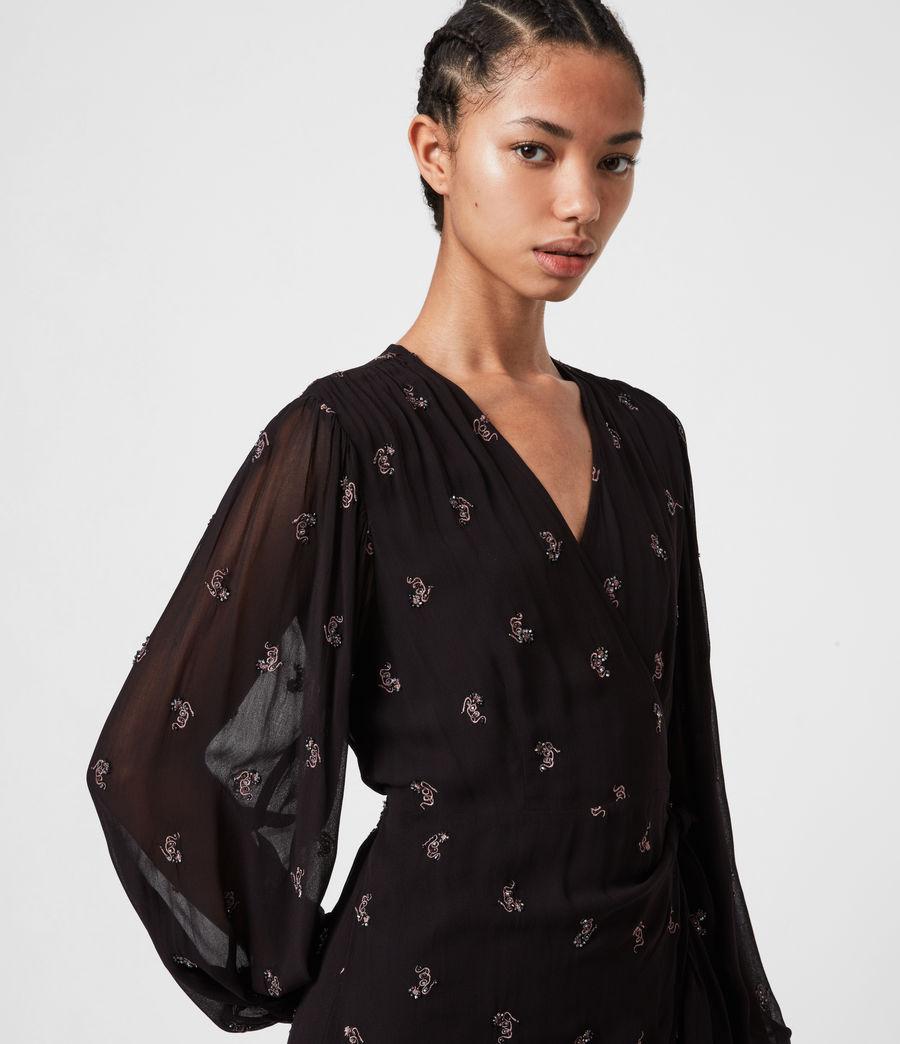 Femmes Robe Serpent Fina (black) - Image 4