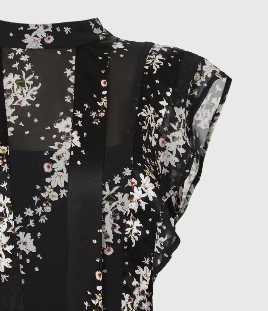 Womens Fleur Cultivar Dress (black) - Image 5