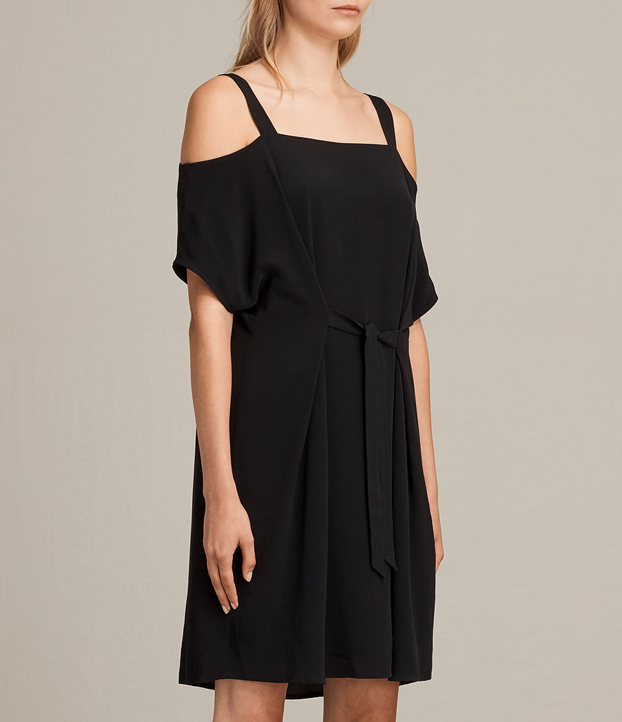 Womens Rae Dress (black) - Image 3