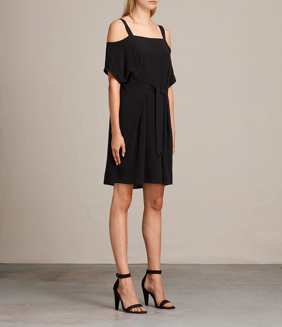 Womens Rae Dress (black) - Image 5