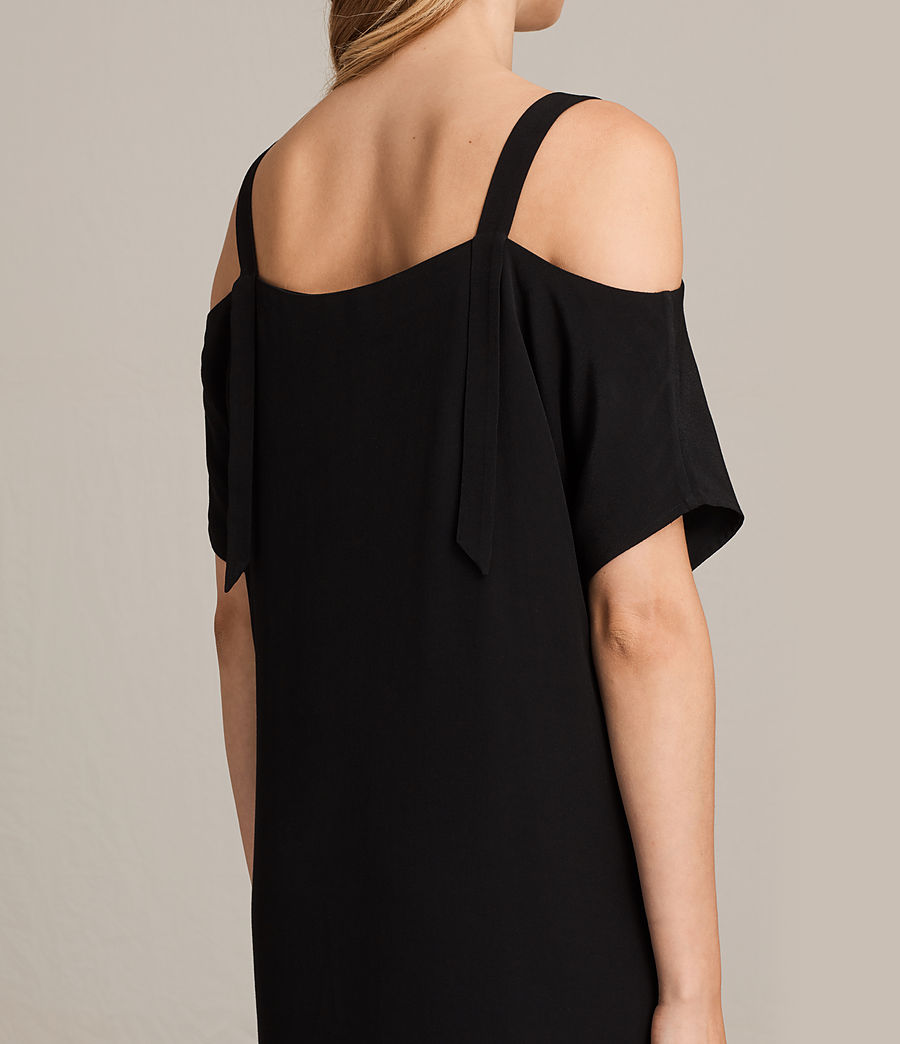 Womens Rae Dress (black) - Image 6