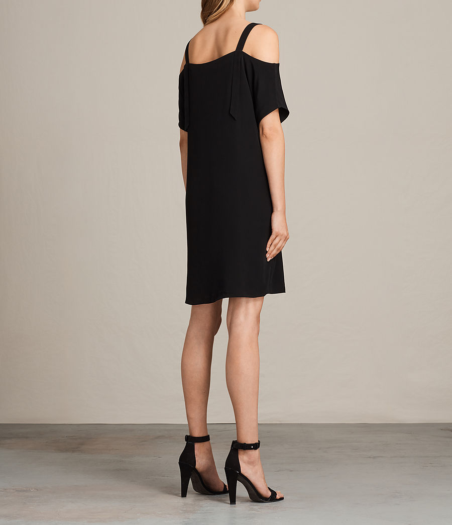 Womens Rae Dress (black) - Image 7