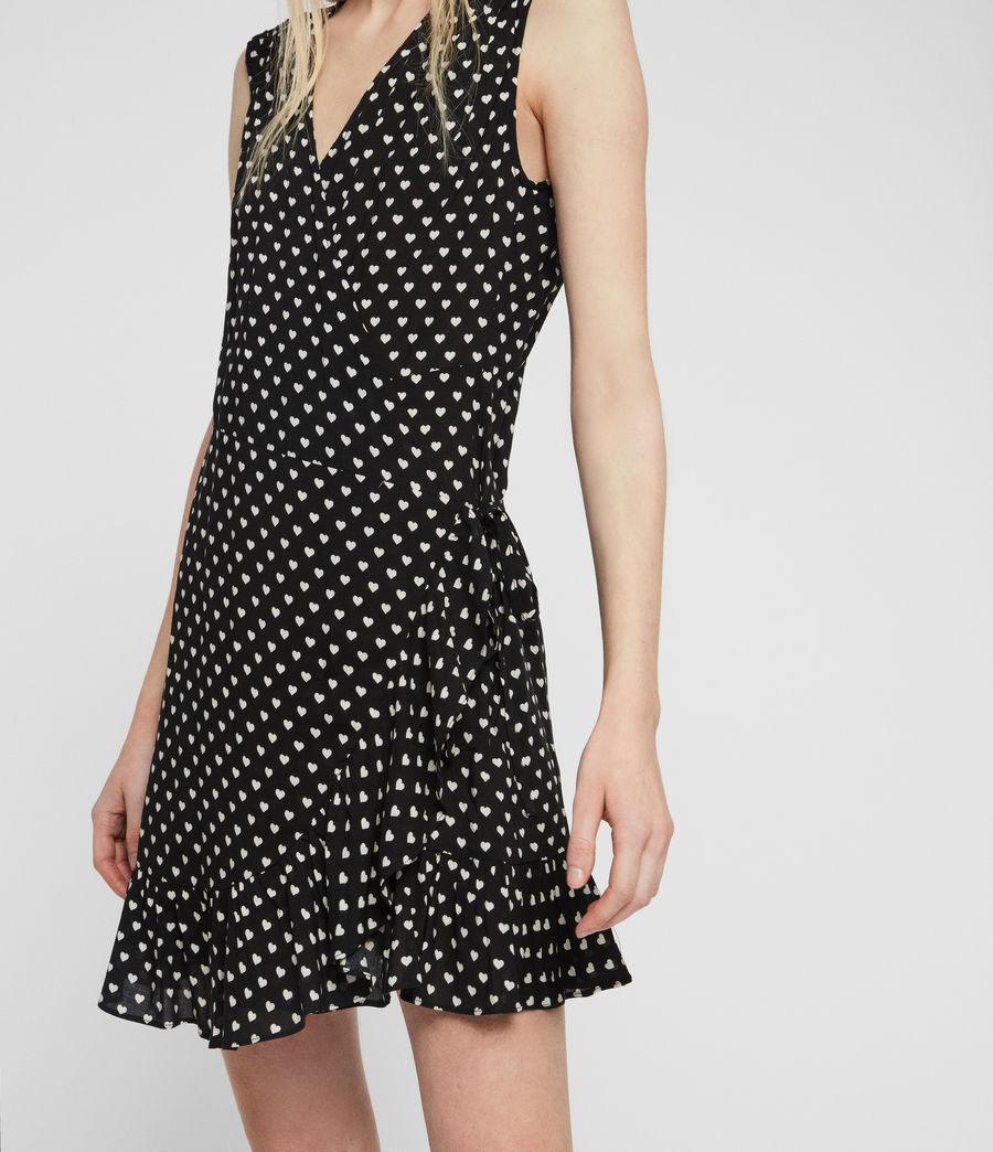 Womens Krystal Valentine Dress (black) - Image 4