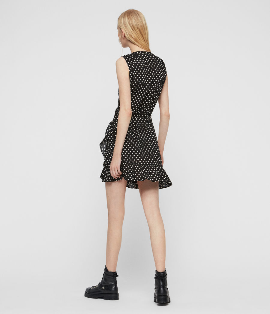 Womens Krystal Valentine Dress (black) - Image 5