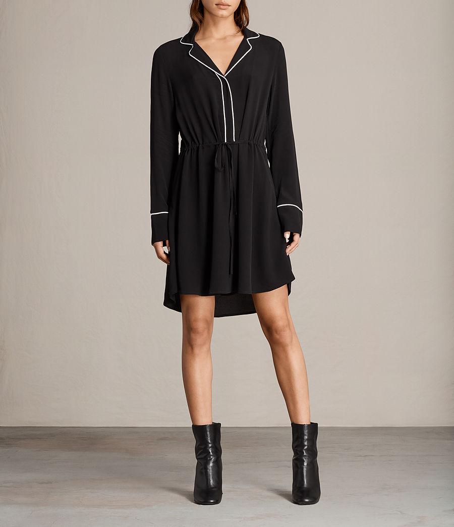 Womens Leon Shirt Dress (black) - Image 1
