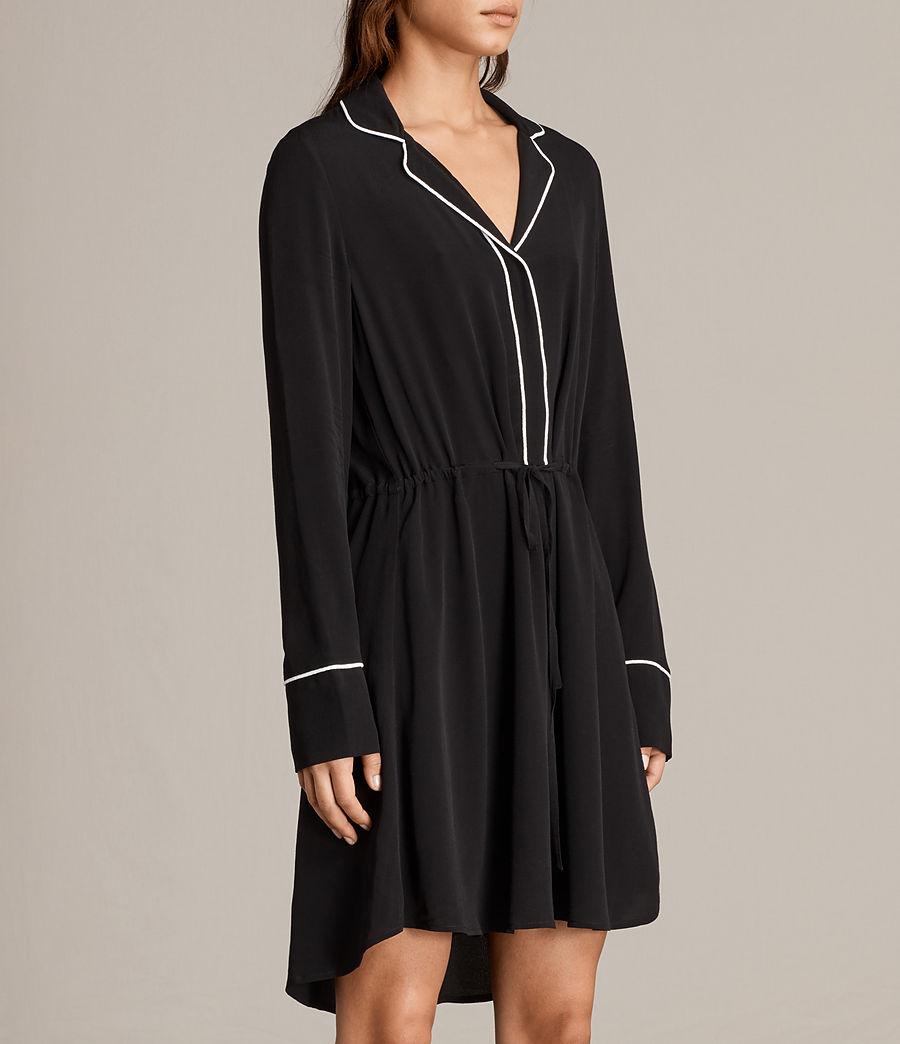 Womens Leon Shirt Dress (black) - Image 3