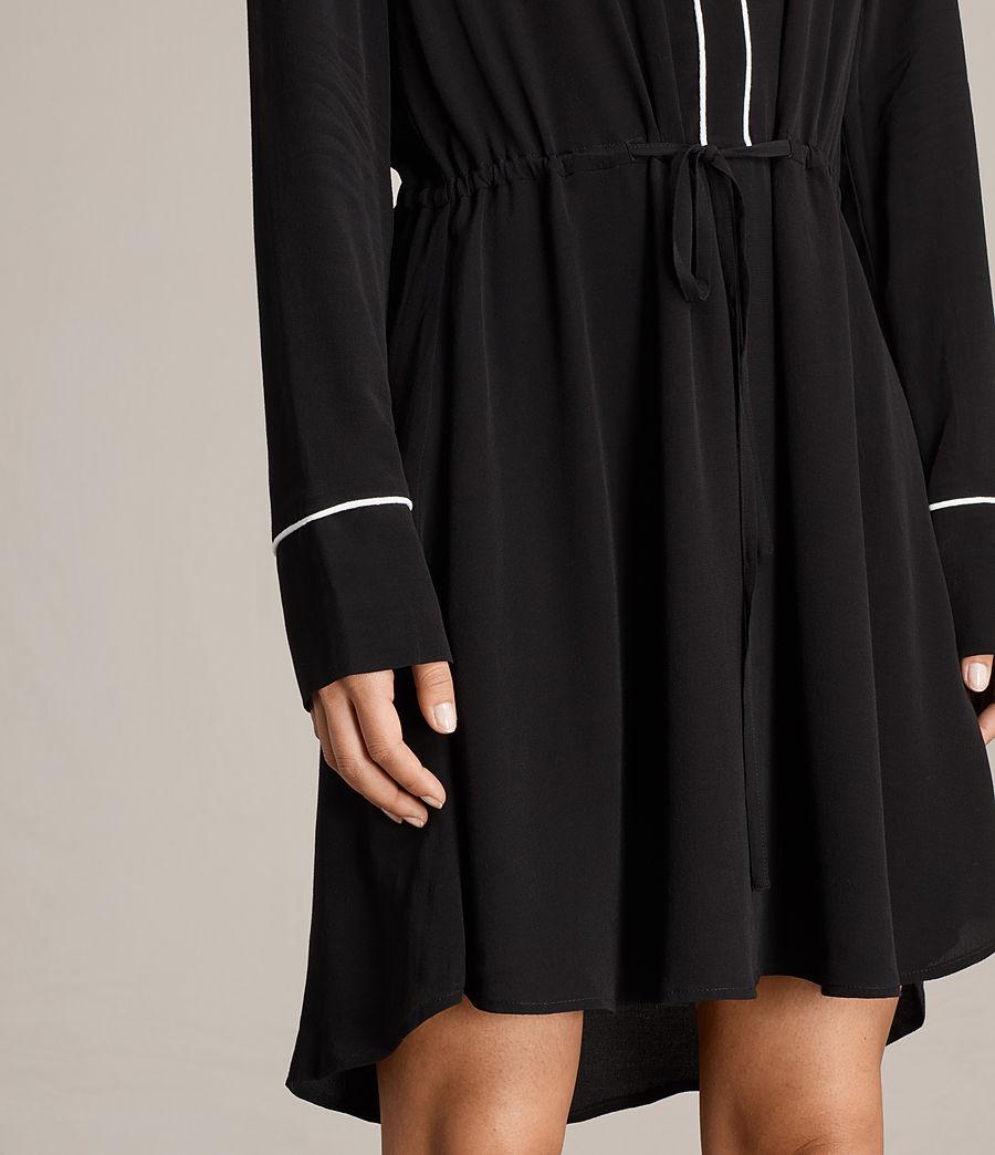 Womens Leon Shirt Dress (black) - Image 5