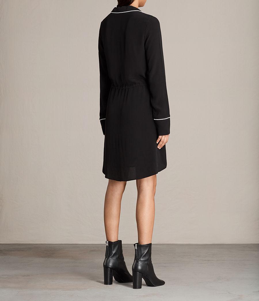 Womens Leon Shirt Dress (black) - Image 6