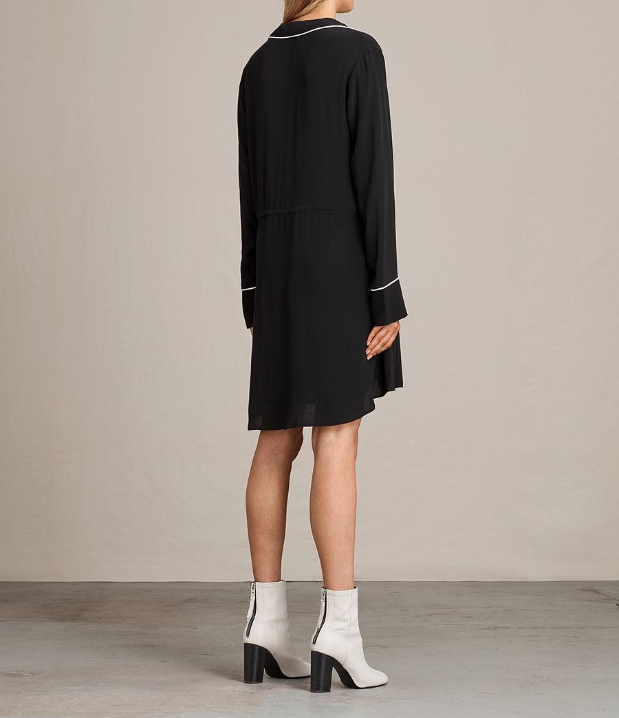Womens Leon Shirt Dress (black) - Image 7