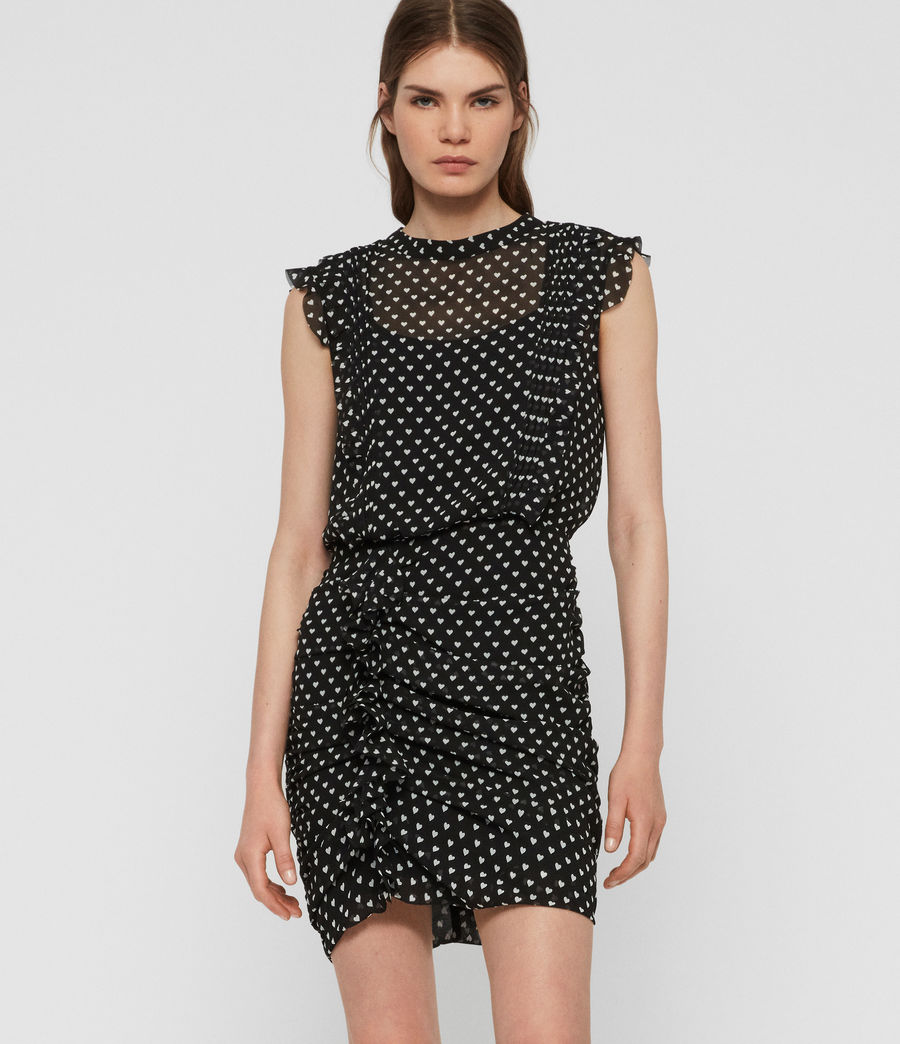 Womens Hali Valentine Dress (black) - Image 4