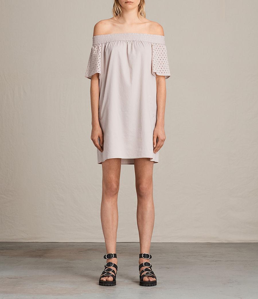 Womens Livia Emb Dress (champagne_pink) - Image 1