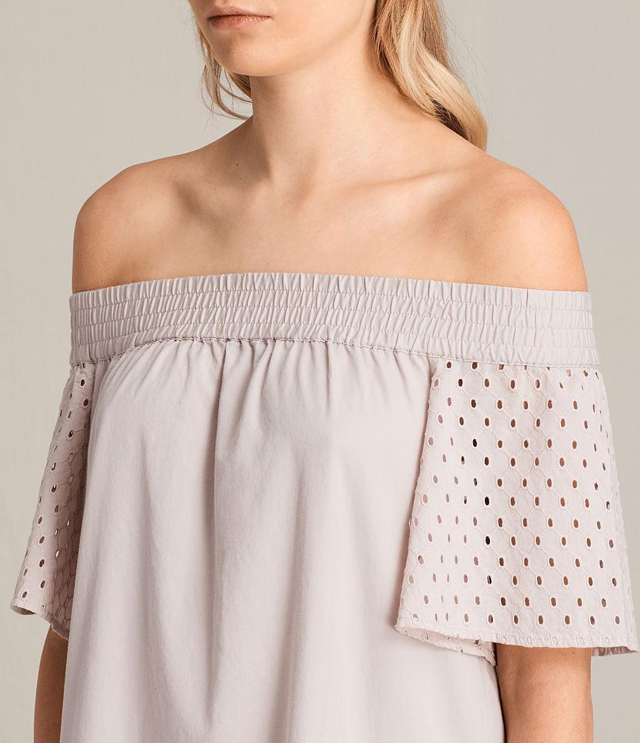 Womens Livia Emb Dress (champagne_pink) - Image 2
