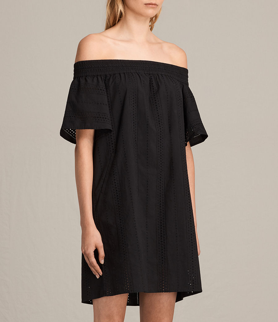 Womens Livia Dress (black) - Image 2