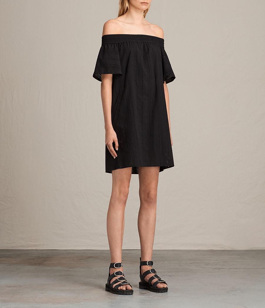 Womens Livia Dress (black) - Image 3