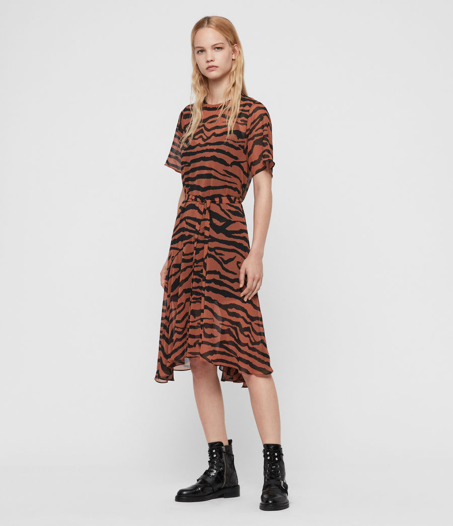 Womens Enki Zephyr Dress (toffee_brown_black) - Image 3