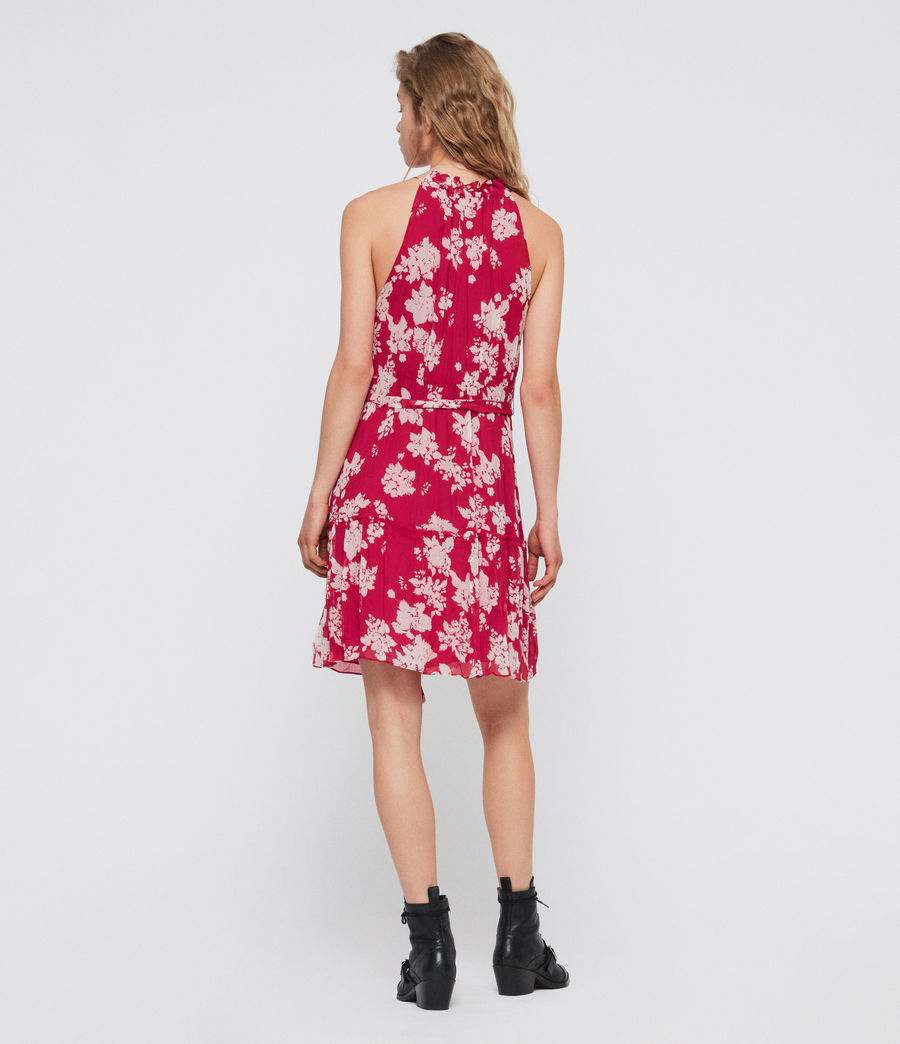 Womens Maisie Lea Dress (hot_pink) - Image 4
