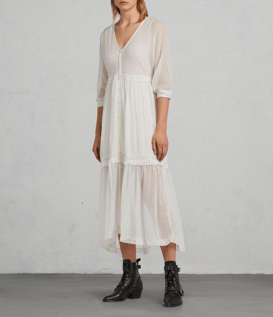 Mujer Vestido Palma Polka (chalk_white) - Image 1