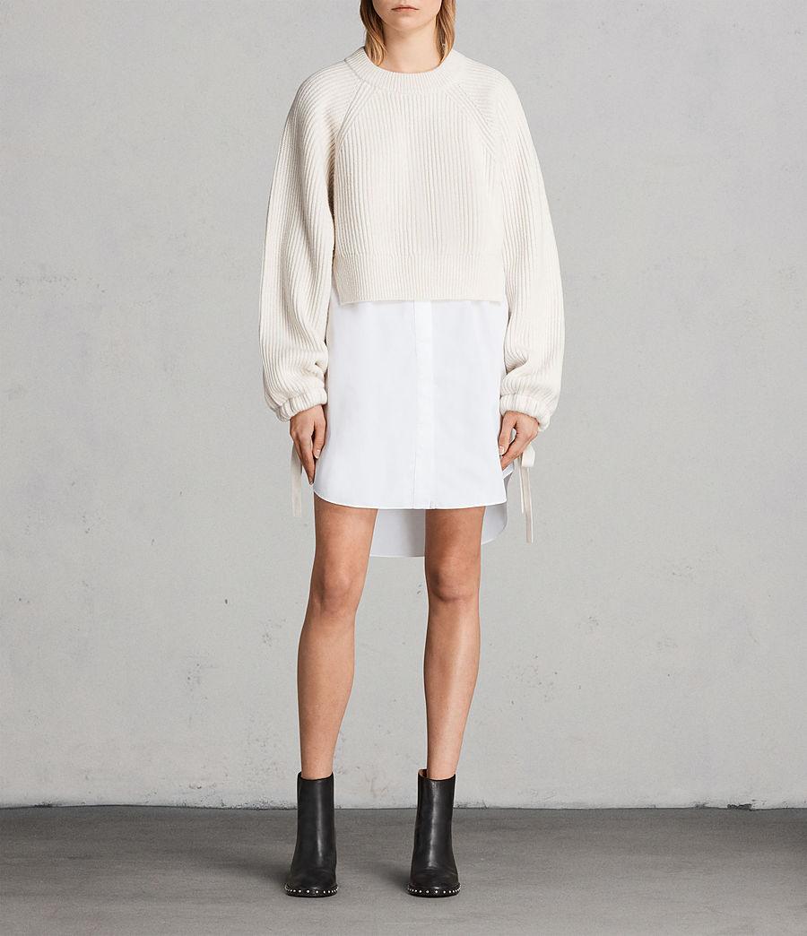 Femmes Robe-Pull Sura (chalk_white) - Image 1