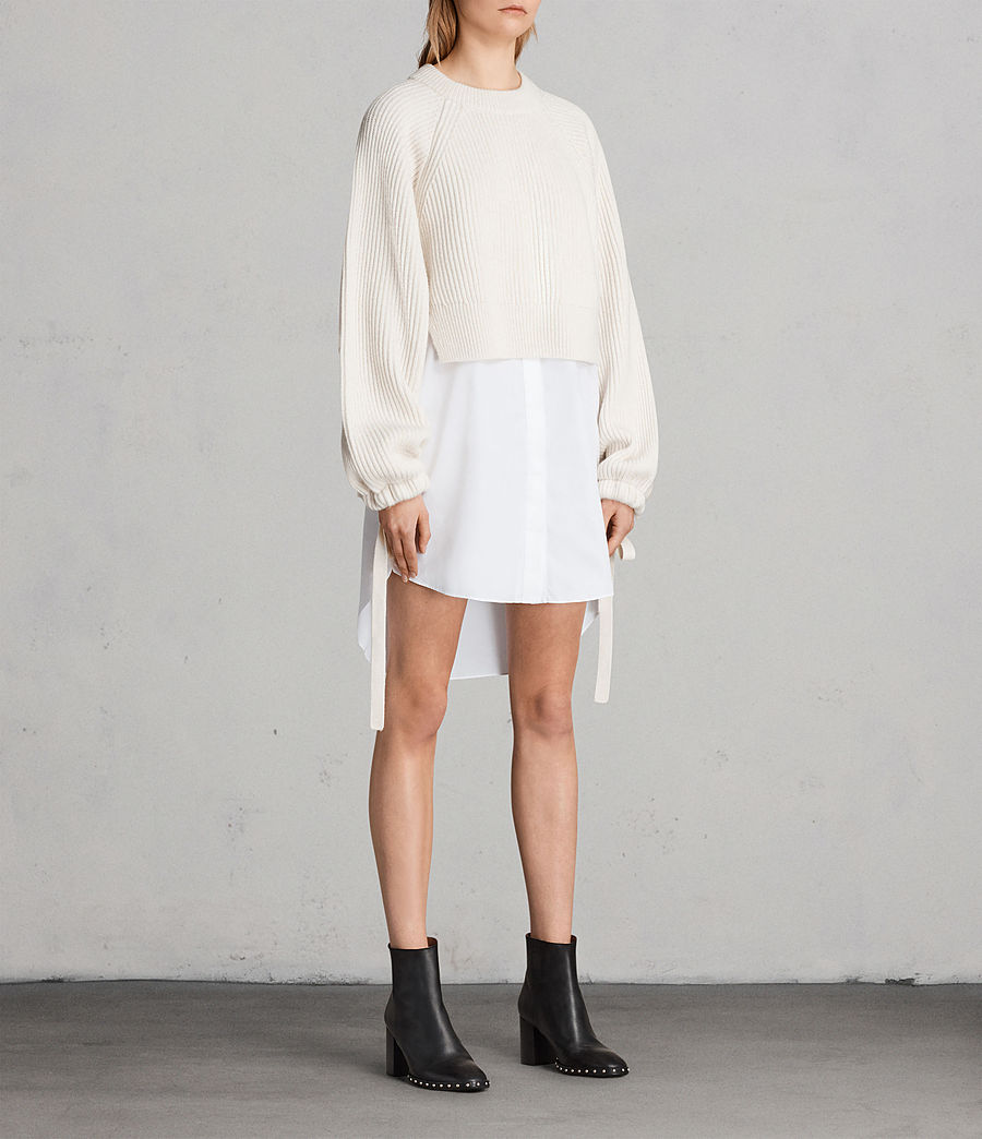 Femmes Robe-Pull Sura (chalk_white) - Image 3