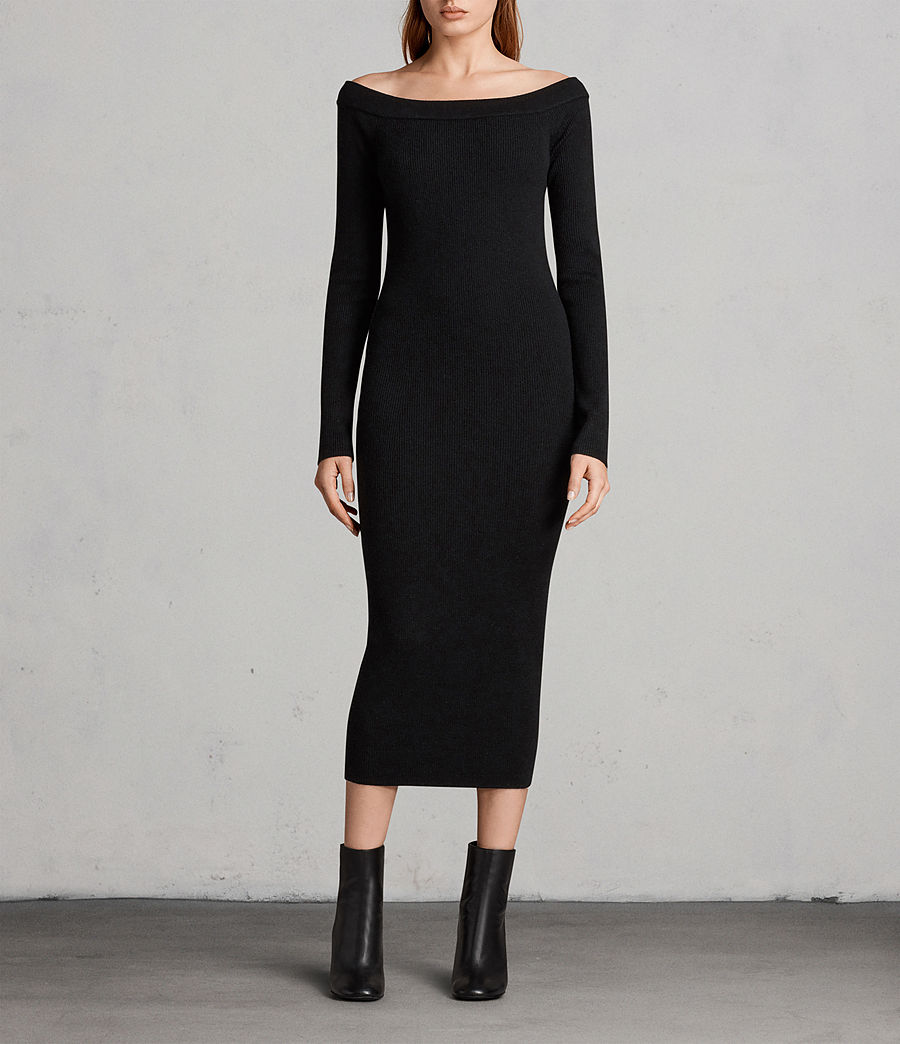 Women's Lavine Long Sleeve Dress (black) - Image 1