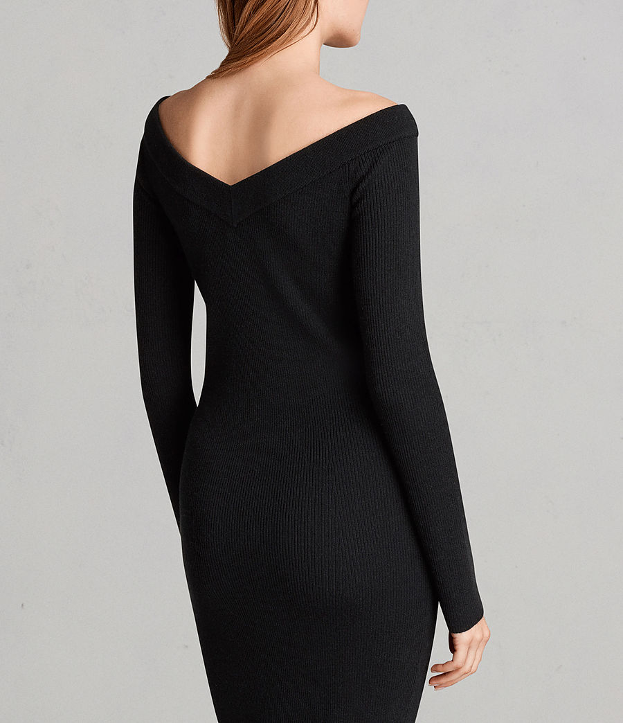 Women's Lavine Long Sleeve Dress (black) - Image 2