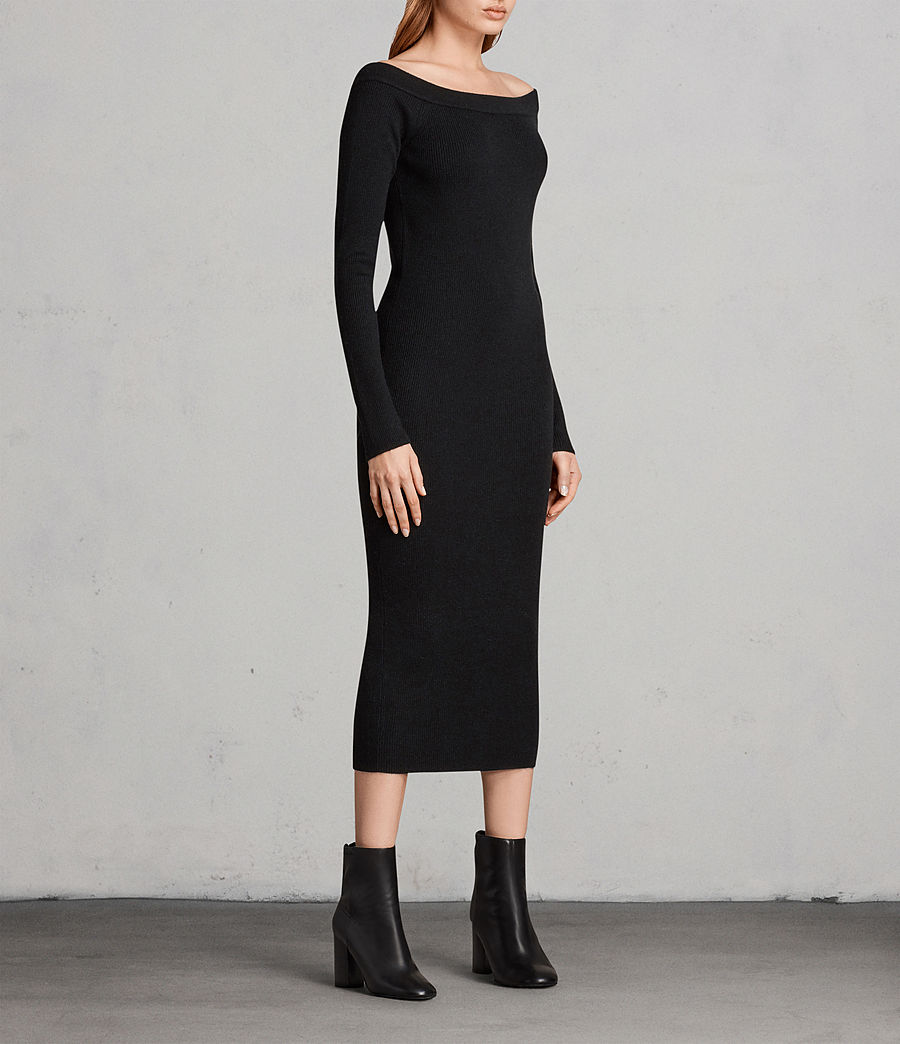 Women's Lavine Long Sleeve Dress (black) - Image 3