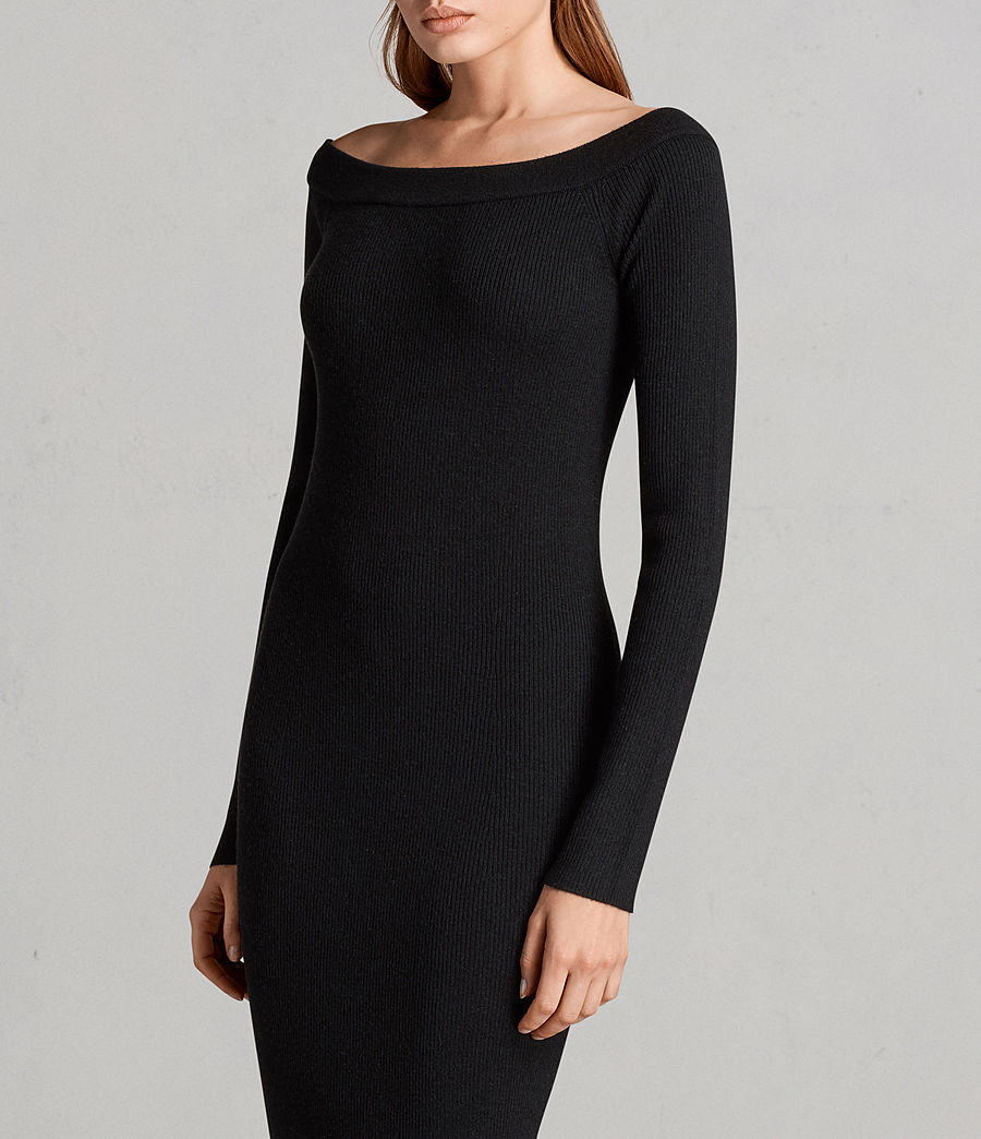 Women's Lavine Long Sleeve Dress (Black) - Image 5
