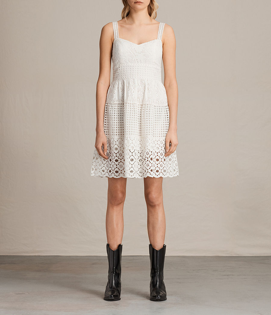 Womens Janey Tier Dress (chalk_white) - Image 1