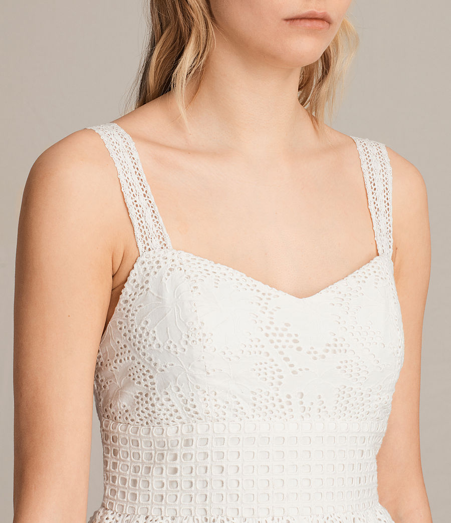 Womens Janey Tier Dress (chalk_white) - Image 2