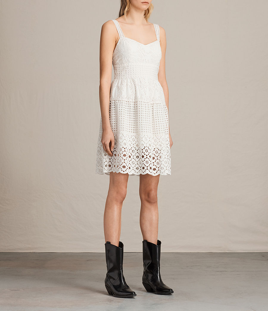 Womens Janey Tier Dress (chalk_white) - Image 4