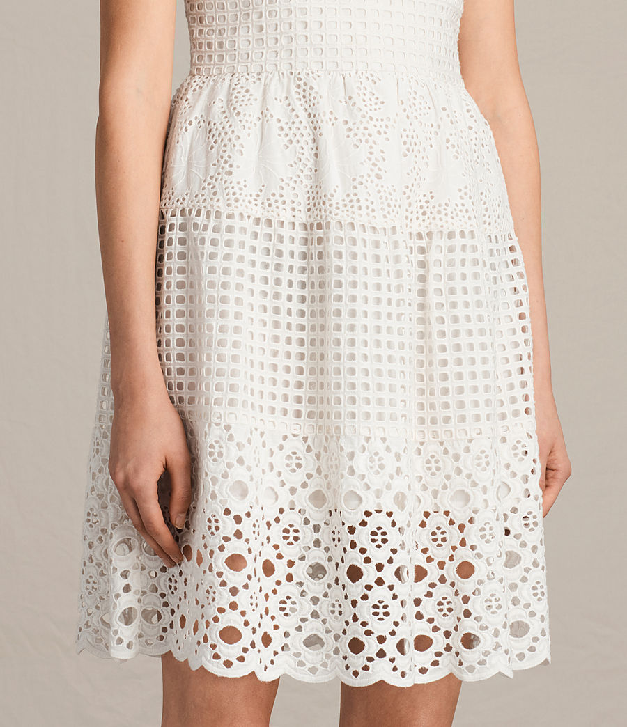 Womens Janey Tier Dress (chalk_white) - Image 6
