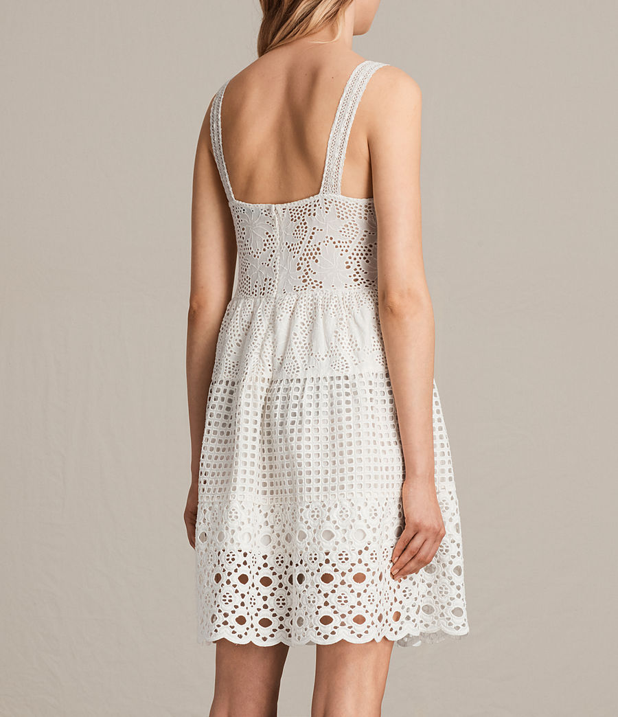 Womens Janey Tier Dress (chalk_white) - Image 8