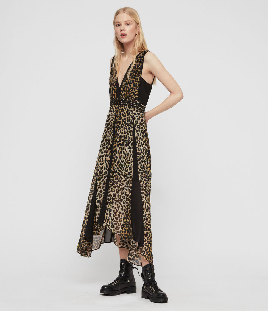 Womens Macella Leppo Dress (leopard_yellow) - Image 1