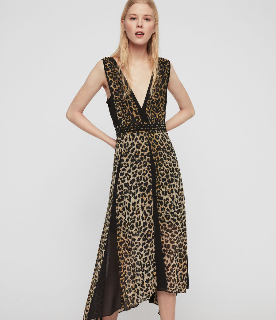 Womens Macella Leppo Dress (leopard_yellow) - Image 2