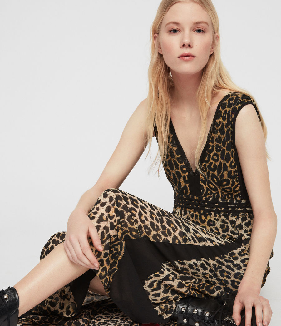 Womens Macella Leppo Dress (leopard_yellow) - Image 3