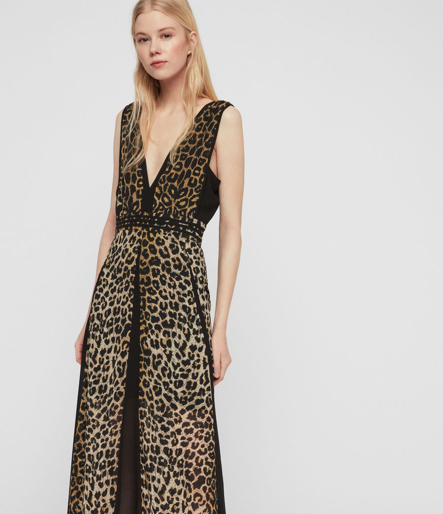 Womens Macella Leppo Dress (leopard_yellow) - Image 4