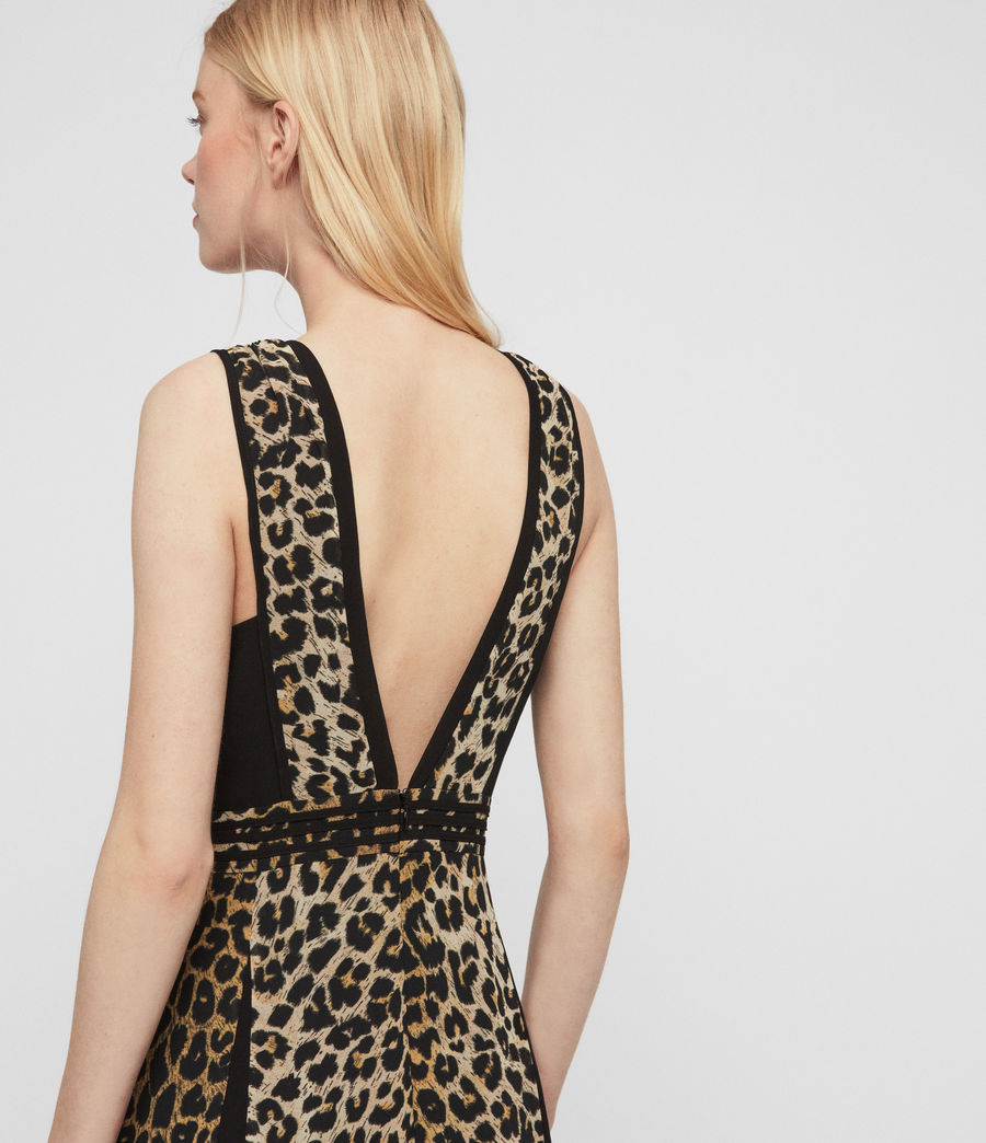 Womens Macella Leppo Dress (leopard_yellow) - Image 5