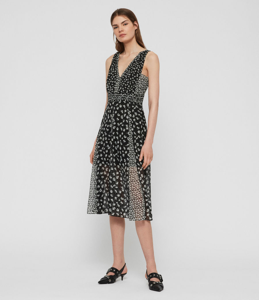 Women's Macella Scatter Dress (black) - Image 3