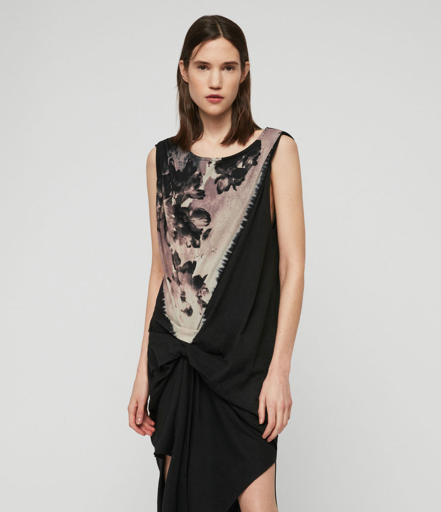 Womens Riviera Flora Dress (black) - Image 1